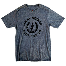 Load image into Gallery viewer, Grey Lucky Streak Logo T