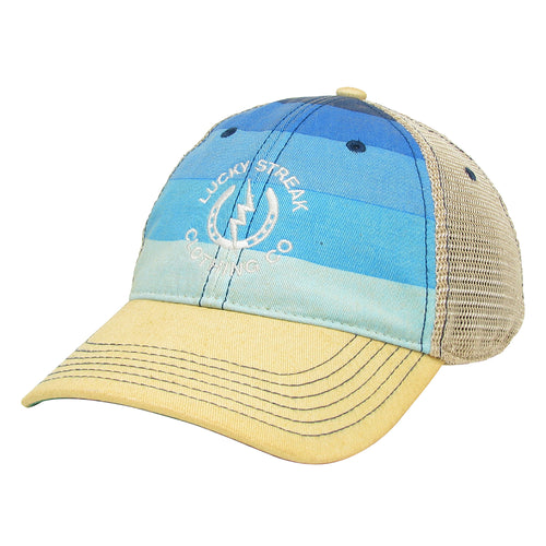 NEW LS Trucker Hat Blue Striped