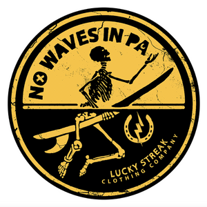 No Waves in PA Sticker
