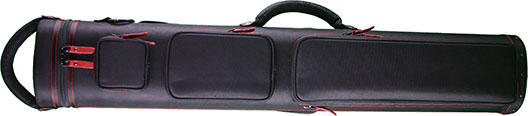 3x6 Black Ultimate Rugged  with Red Stitching and Zipper Pulls