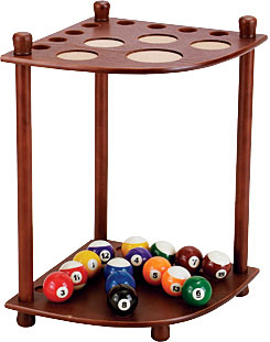 Cuestix Chocolate Floor Rack, Holds 8 Cues 16(d) x 23.5(h)x 14.5(w)