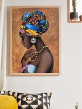 Load image into Gallery viewer, Black Woman Head Wrap Wall Decor