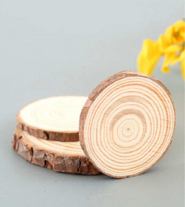 Wooden Annual Ring Coasters (Set of 4)