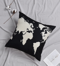 Load image into Gallery viewer, World Map Pillow