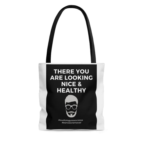 Black There You Are Looking Nice & Healthy Tote Bag- USA SHIPPING ONLY