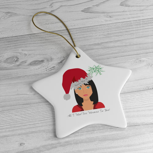 Mrs B' Christmas Tree Ceramic Decoration