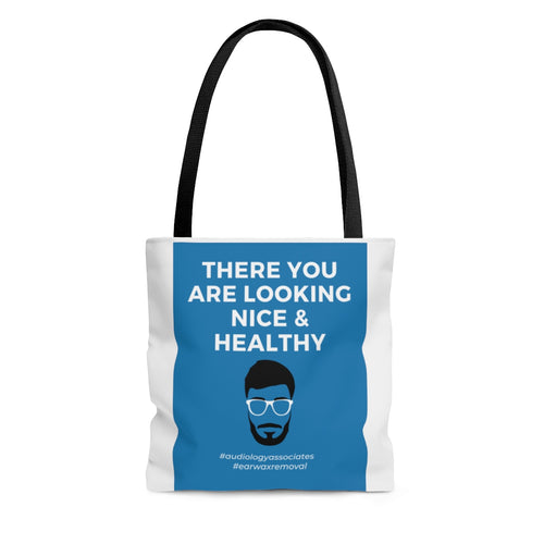 Blue There You Are Looking Nice & Healthy Tote Bag- USA SHIPPING ONLY