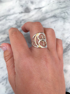Sacred Geometry Snake Ring