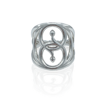 Load image into Gallery viewer, Sacred Geometry Snake Ring (MADE TO ORDER)