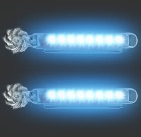 Wind Powered LED Car Lights (2 Pieces)