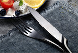Wildfire 24 Piece-set Stainless Steel Anodised Black Cutlery