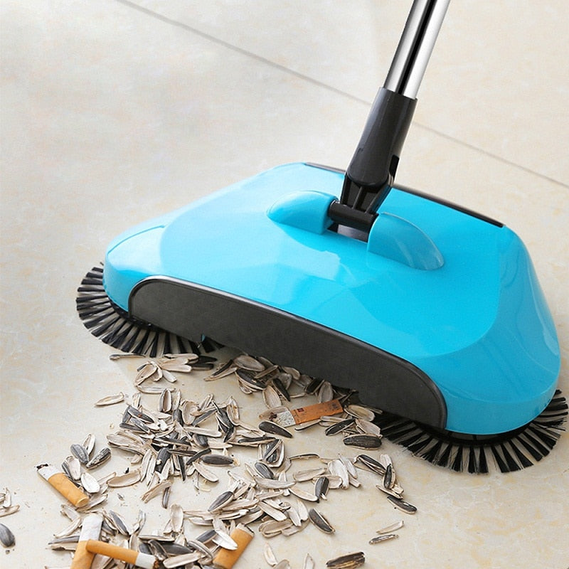 Stainless Steel Sweeping Machine - No Power Supply Needed