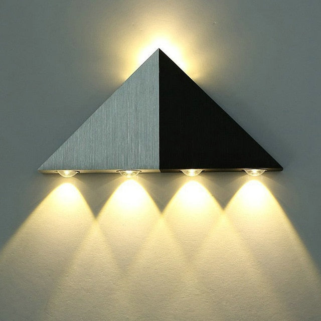 Aluminum Triangle Wall Lamp