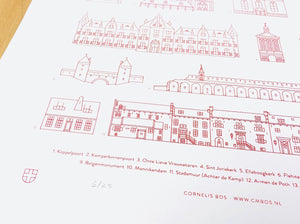 Screenprint Amersfoort Architecture, A2