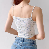 floral lace cami top
