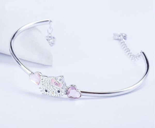 rhinestone hello kitty bracelet