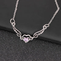 winged heart choker necklace