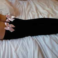 pink bow tights