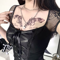 gothic lace up top
