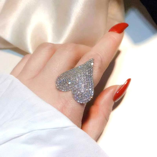bling heart ring