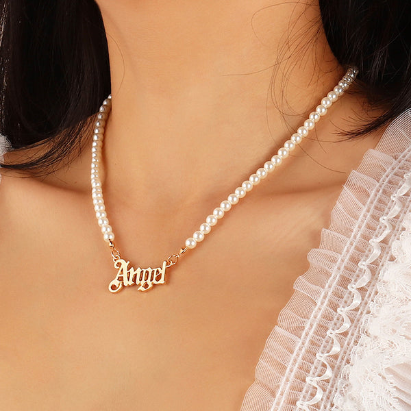angel pearl necklace