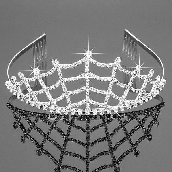 spider web princess tiara