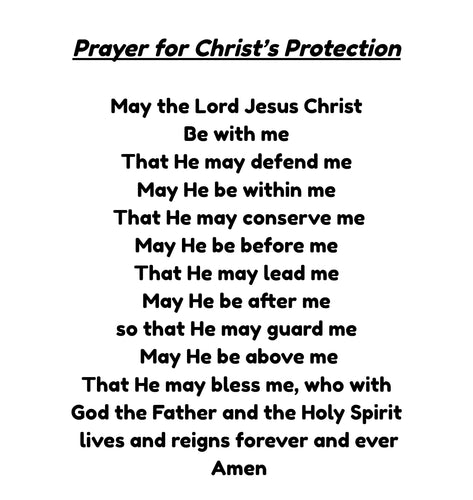 Prayer for Christ's Protection