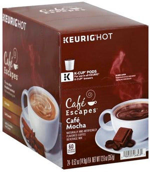 Load image into Gallery viewer, GMCR K CUP Cafe Escapes Cafe Mocha 24 CT