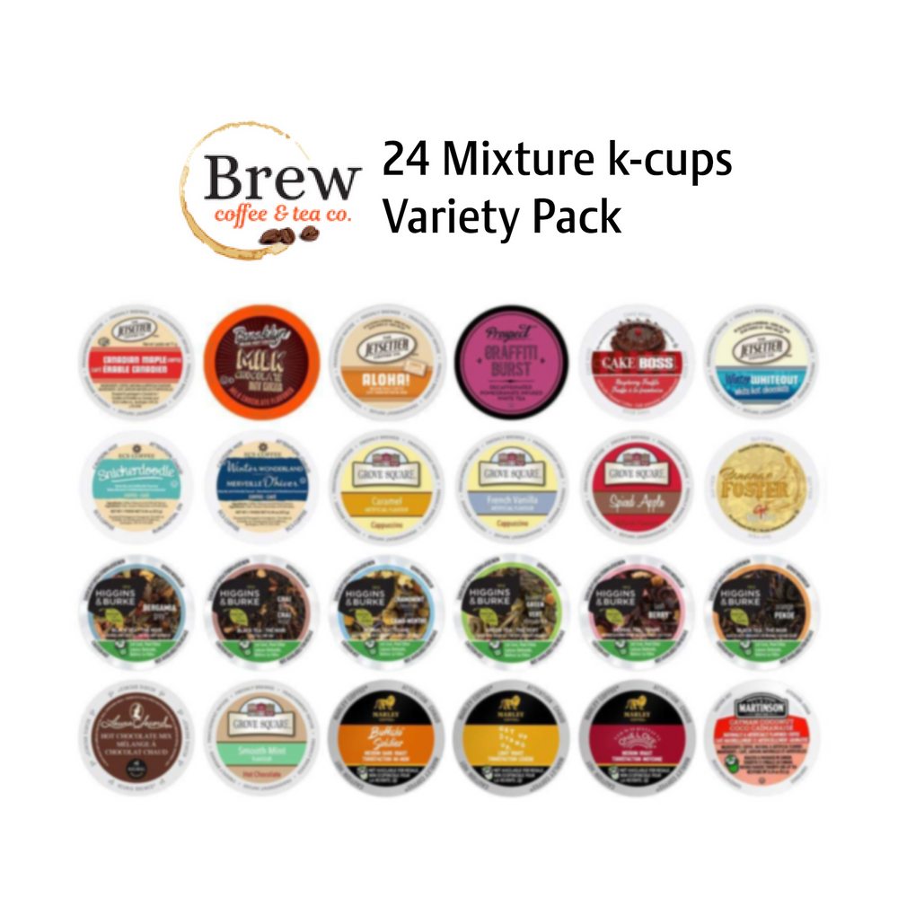 24 mixture Tea (Flavoured Tea, Black Tea and Green Teas) Variety Pack