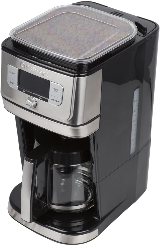 Load image into Gallery viewer, Save the TAX - Cuisinart® Fully Automatic 12-Cup Burr Grind & Brew Coffeemaker DGB-800C - Black/Silver