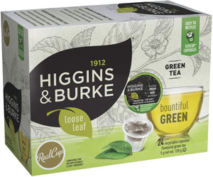 Load image into Gallery viewer, Higgins & Burke RC Loose Leaf Tea Bountiful Green 24 CT
