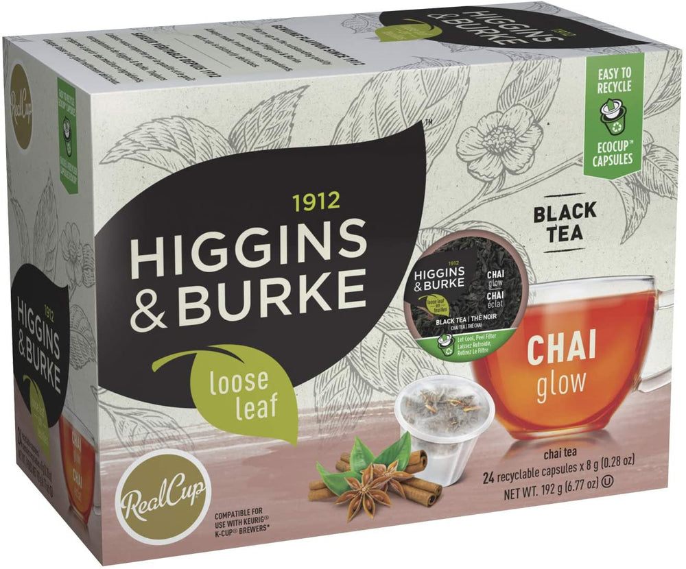 Load image into Gallery viewer, Higgins & Burke RC Loose Leaf Tea Chai Glow 24 CT