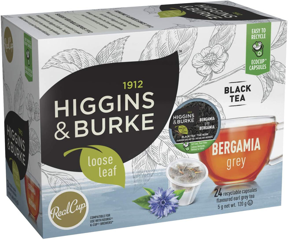 Load image into Gallery viewer, Higgins & Burke RC Loose Leaf Tea Bergamia Grey 24 CT