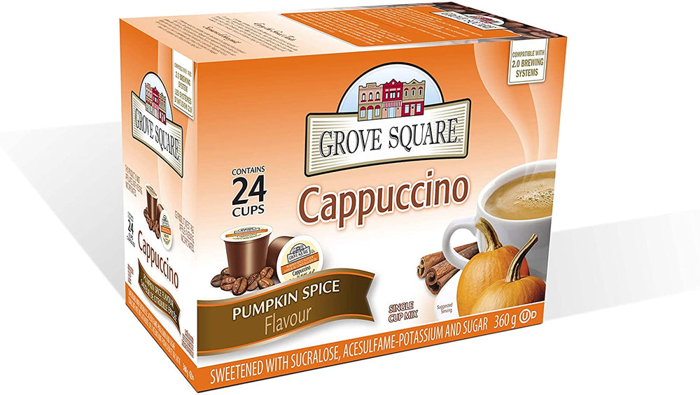 Load image into Gallery viewer, Grove Square Pumpkin Spice Cappuccino 24 Pack