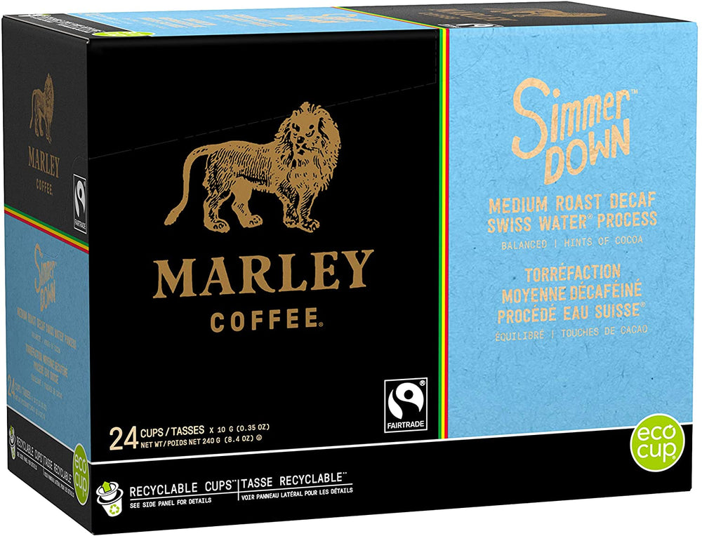 Marley Coffee RC Simmer Down Decaf SWP 24 CT