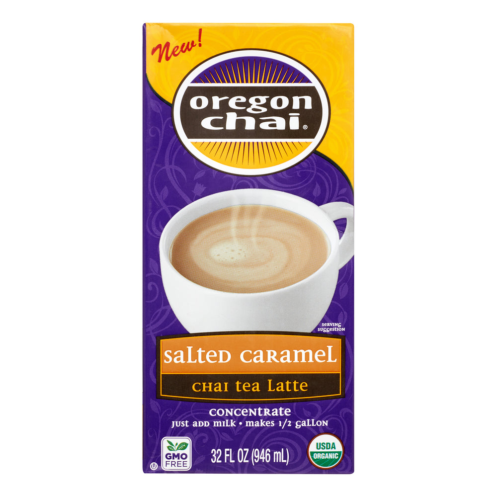 Load image into Gallery viewer, Oregon Chai Salted Caramel Conc 6 x 32OZ