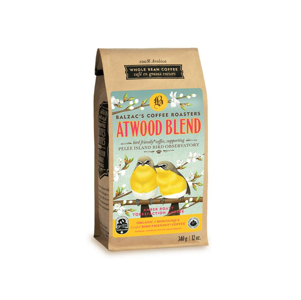 Load image into Gallery viewer, Balzac's Bird Friendly Atwood Blend Organic Whole Bean Coffee 12 oz