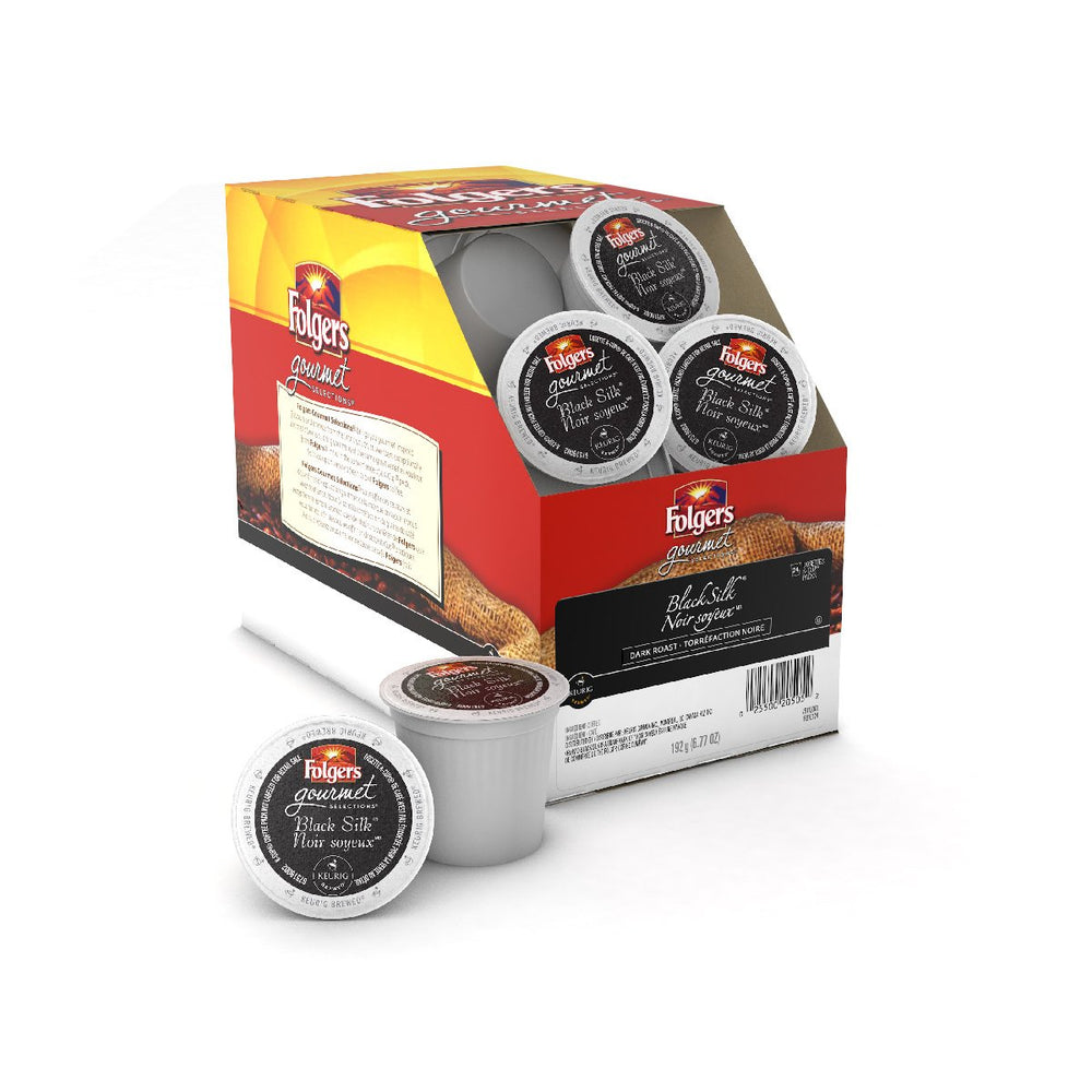 Load image into Gallery viewer, Folgers Gourmet K CUP Black Silk 24 CT