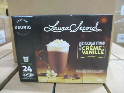 Load image into Gallery viewer, Laura Secord Hot Chocolate Vanilla Cream 24 CT