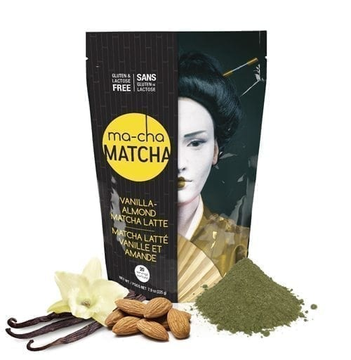 Load image into Gallery viewer, ma-cha Matcha Vanilla Almond Matcha Latte