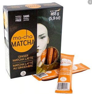 Load image into Gallery viewer, ma-cha Matcha Ginger Matcha Latte 12 CT