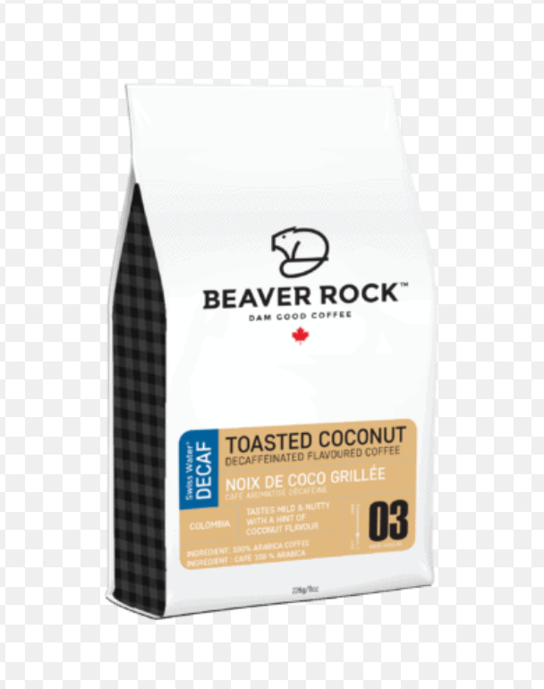 Beaver Rock Toasted Coconut Decaf 8oz