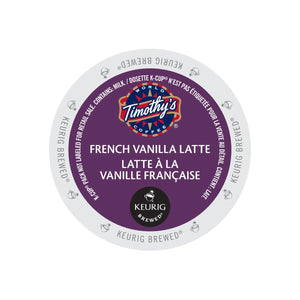 TIMOTHY'S K CUP French Vanilla Latte 24 CT