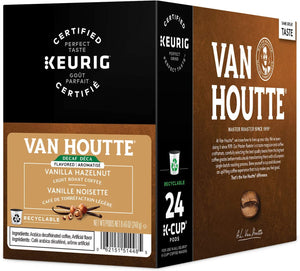 Load image into Gallery viewer, Van Houtte K Cup Vanilla Hazelnut Def 24 CT