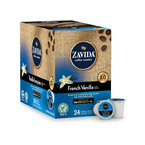 Zavida Z Cups French Vanilla Dark 24 CT