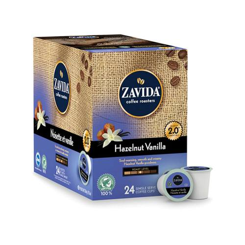 Load image into Gallery viewer, Zavida K Cups Hazelnut Vanilla 24 CT