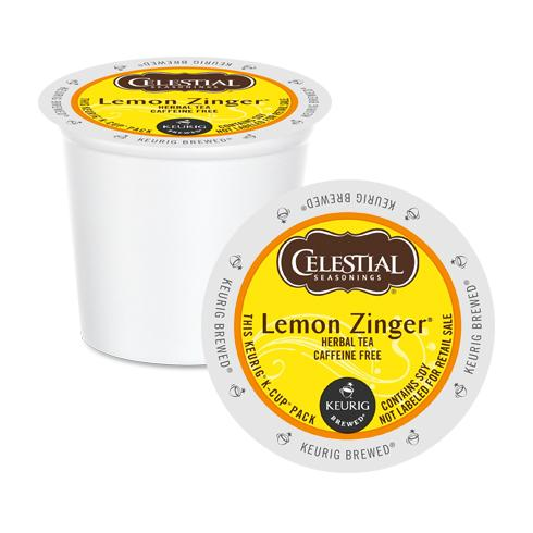 Load image into Gallery viewer, GMCR Celestial Tea K CUP Lemon Zinger 24 CT