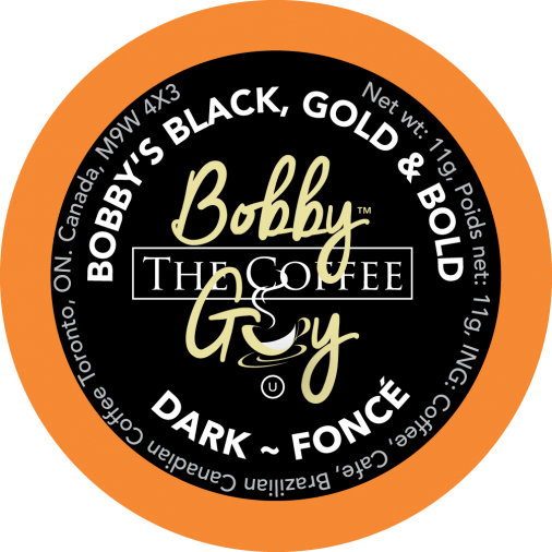 Bobby's Black, Gold and Bold Single Serve Coffee