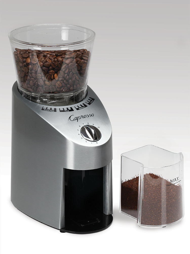 Load image into Gallery viewer, Capresso Infinity Conical Burr Grinder, Grey