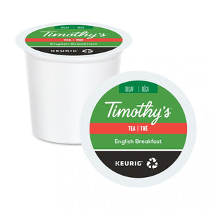 TIMOTHY'S K CUP Tea English Breakfast Decaf - Black 24 CT